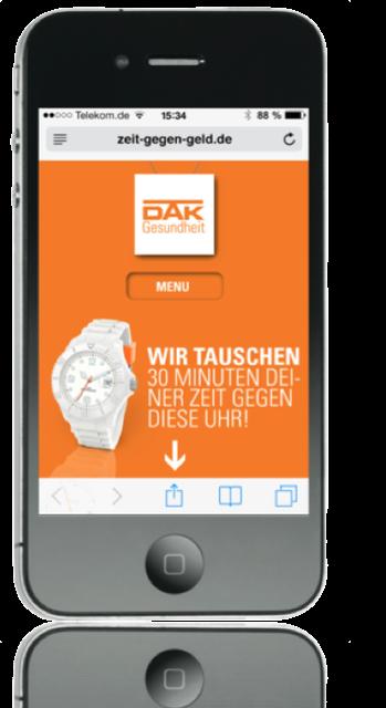 DAK - Kampagne zur Leadgenerierung